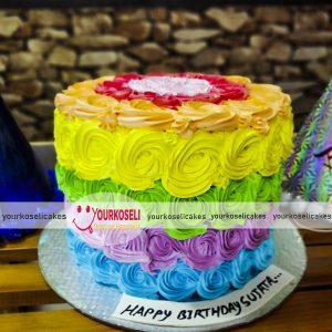 Rainbow-Themed-Cakes