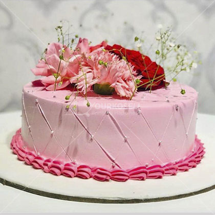 Red Rose Design Cake Nepal