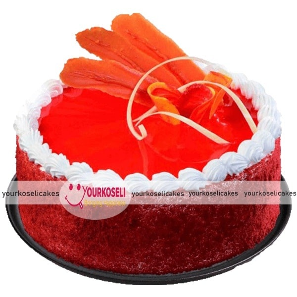 Normal Red Velvet Cake Design