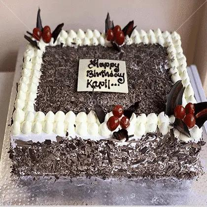 Chocolate-Butterscotch-rectangle cake in Nepal