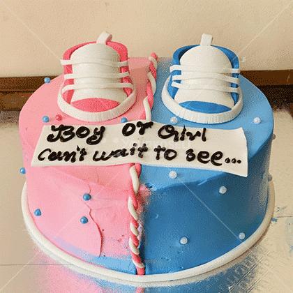 Gender-Reveal-Themed-Cake