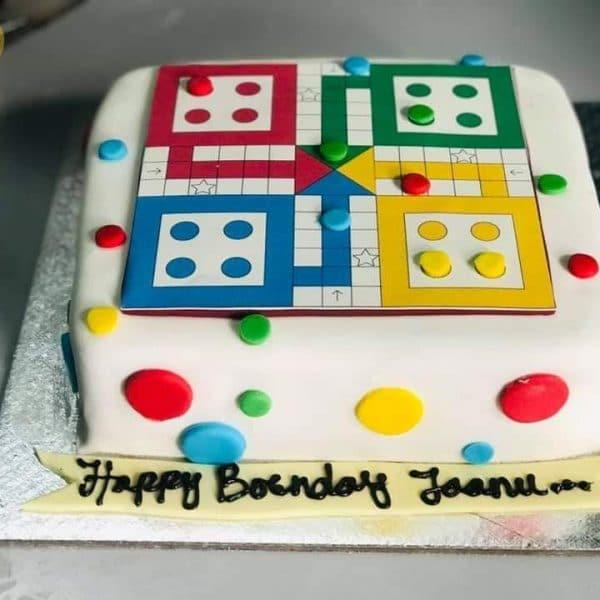 Customizable Ludo Themed Cake