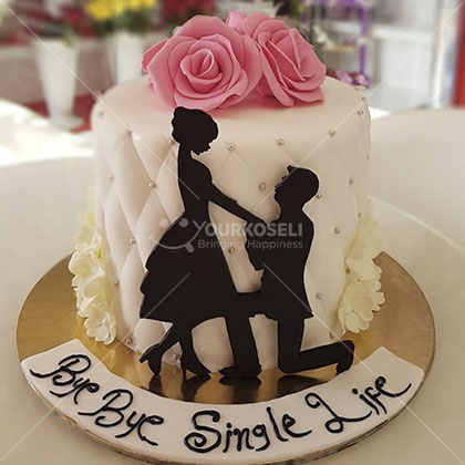 Beautiful Bride to be cake