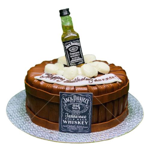 Jack Daniel Barrel Themed Cake