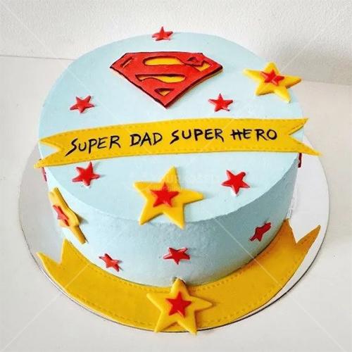 Super Dad Super Hero Cake