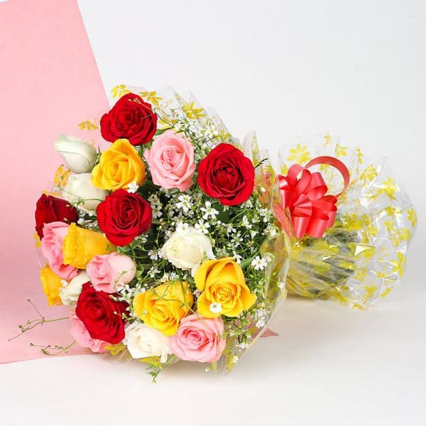 Send Mixed Rose Bouquet in Nepal