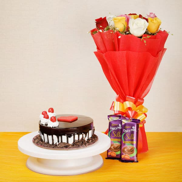 Cake and Flower Gift Combo